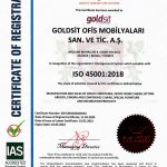 ISO 45001:2018 Manufacture and sales of office furnitures