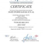 TS EN ISO 9001:2015 Goldsit IQNET Certification